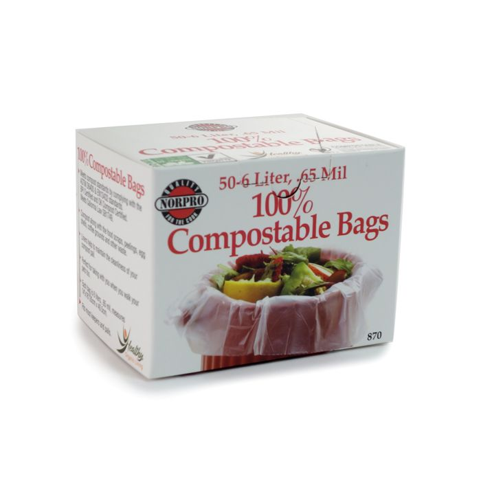 Norpro Compostable Bags, 50 Count