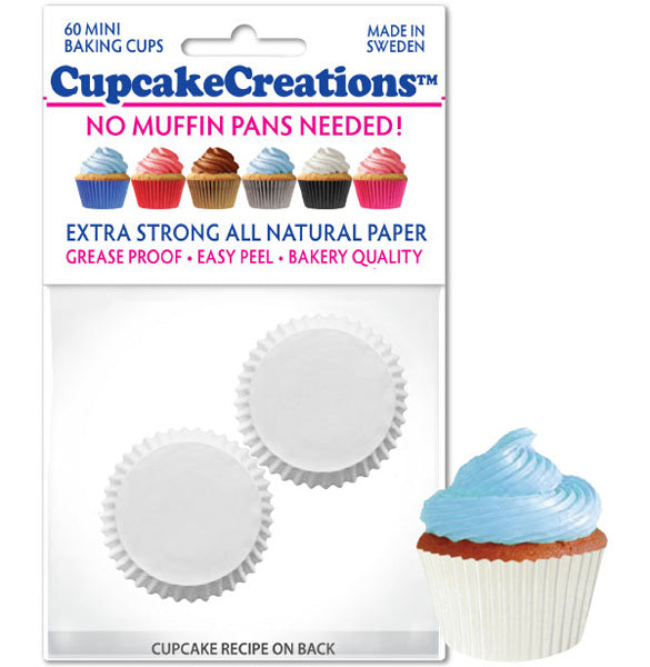 Siege Cupcake Creations Mini White Baking Cups