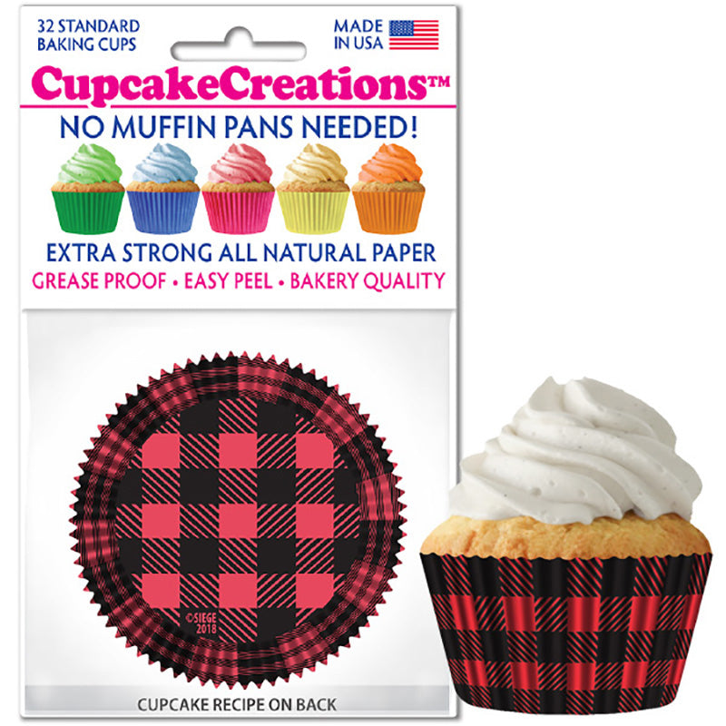 Siege Cupcake Creations Buffalo Plaid Baking Cups