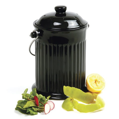 Norpro 1 Gallon Black Ceramic Compost Keeper