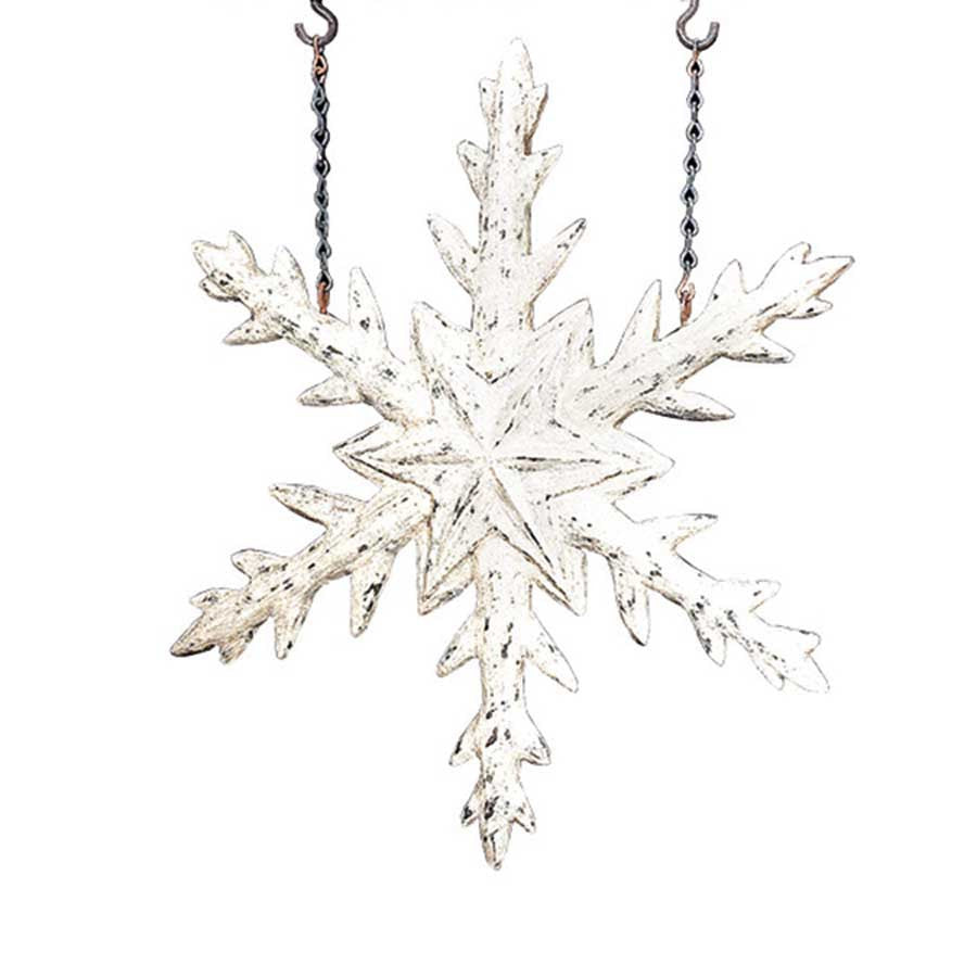 K & K Interiors Snowflake Hanging Ornament