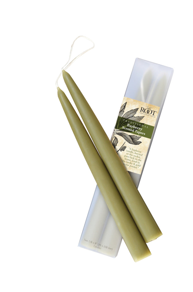 Root Bayberry Scented Taper Candles Set of 2