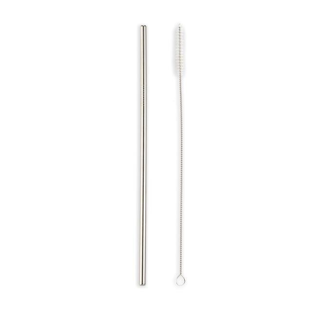Kikkerland Stainless Steel Straw with brush