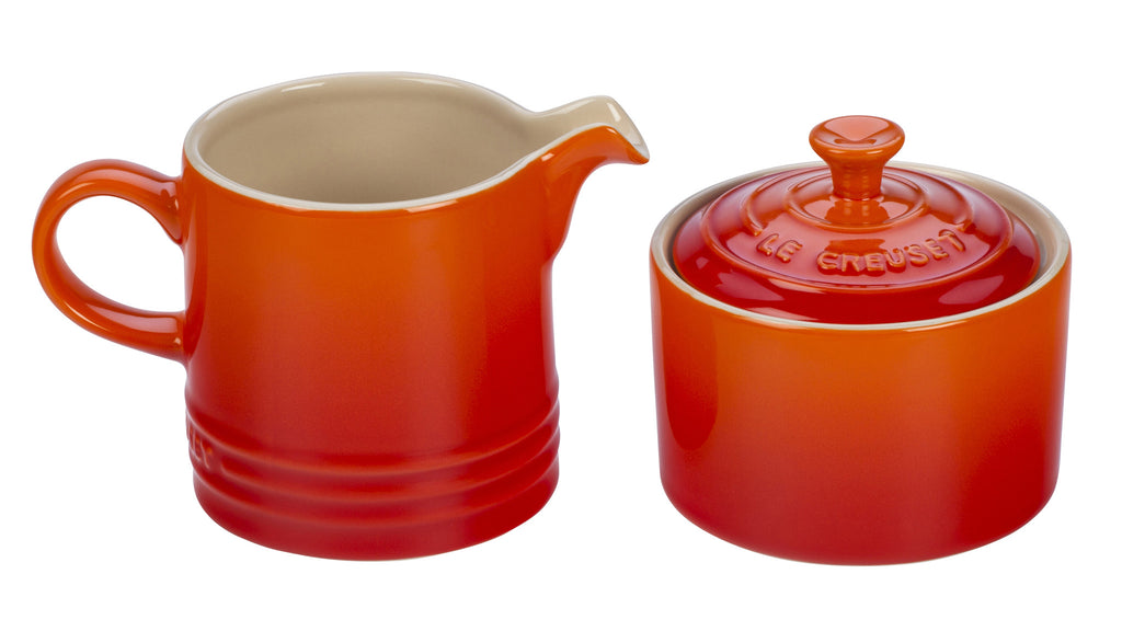 Le Creuset Flame Cream & Sugar Set