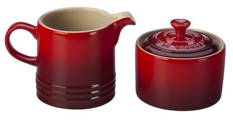 Le Creuset Cherry Cream & Sugar Set