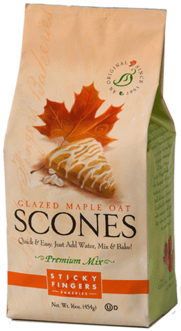Sticky Fingers Bakery Scone Mix Glazed Maple Oat