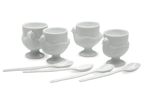 RSVP Egg Cups & Spoons Set 8 pc