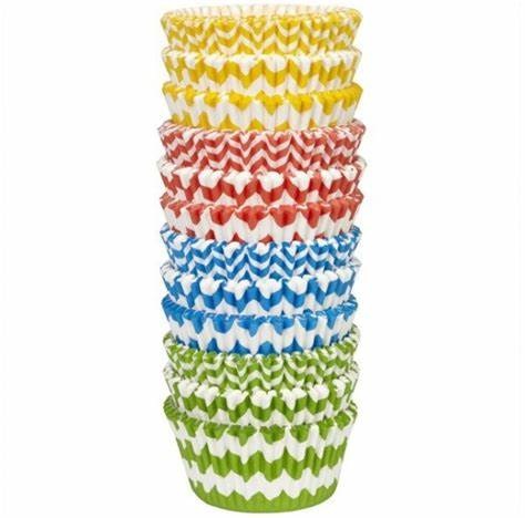 Wilton Set of 300 Multi-Color Chevron Baking Cups