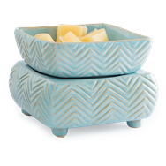 CW Candle Warmer Blue Chevron