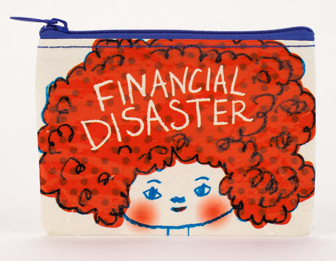 Blue Q Coin Purse Financial Disaster