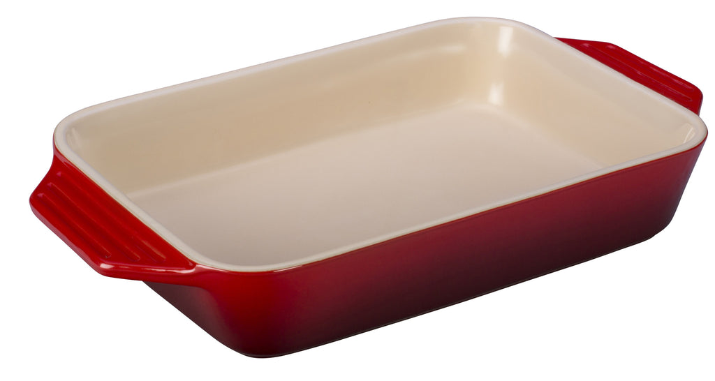 "Le Creuset 12"" x 8.25"" Cherry Rectangular Baking Dish"