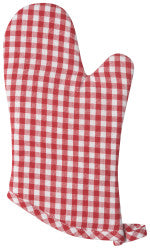 Now Designs Classic Red Gingham Mitt