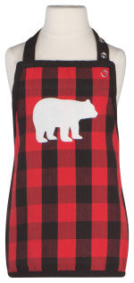 Now Designs Buffalo Check Bear Kid's Apron