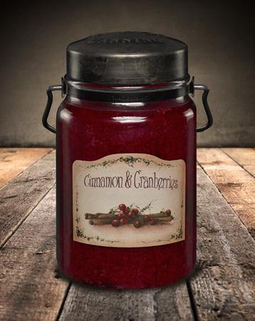 McCall's Cinnamon & Cranberries Scented Jar Candle 26 oz.