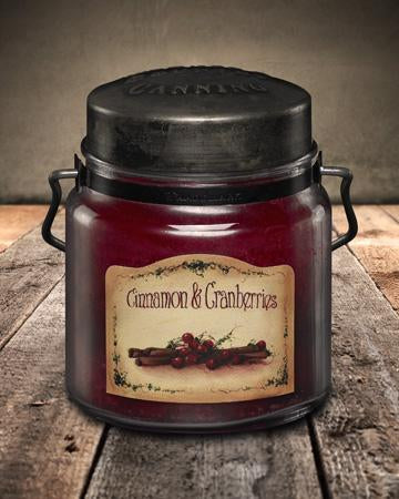 McCall's Cinnamon & Cranberries Scented Jar Candle 16 oz.