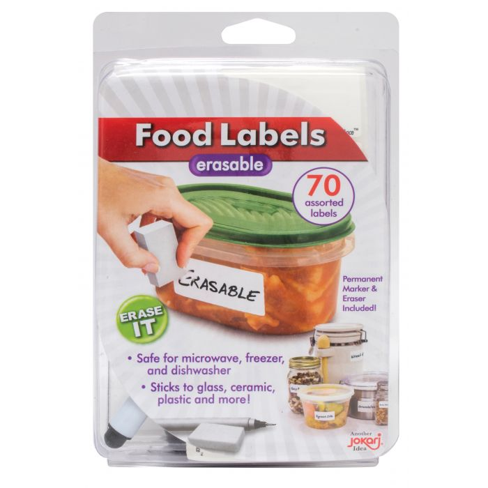 HIC Jokari Erasable Food Labels