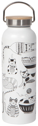 Now Designs Water Bottle Purr Party