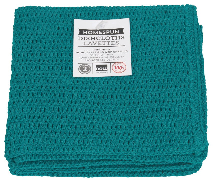 Now Designs Peacock Homespun Dishcloths Set of 2