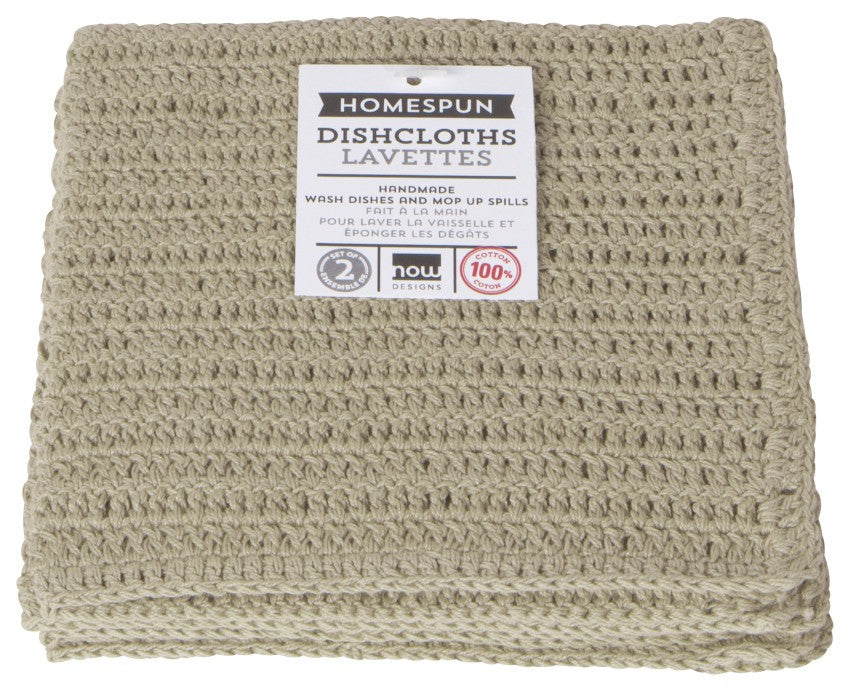 Now Designs Sandstone Homespun Dishcloths Set of 2