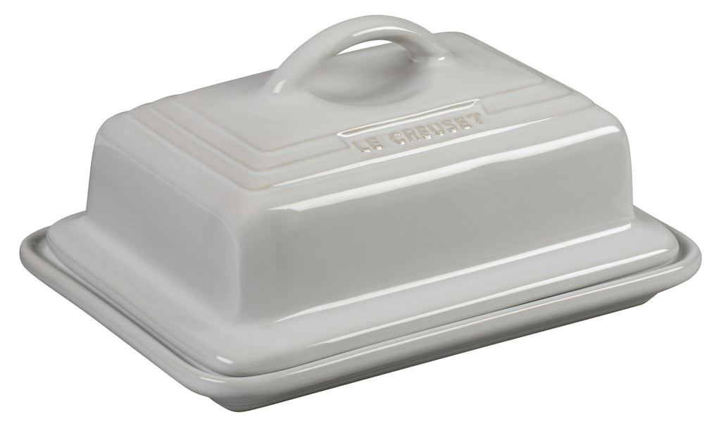 Le Creuset White Heritage Butter Dish
