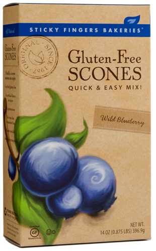 Sticky Fingers Bakery Gluten Free Scone Mix Blueberry