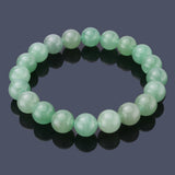 Green Aventurine Jade, 10mm, Healing Power Crystal Elastic Stretch Beaded Bracelet