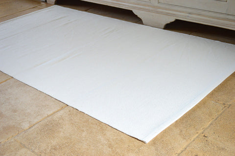 Floor Rug, 100% Cotton Flat Weave Antique White 2 Sizes