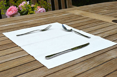 Placemats, Rib Style 33x45cm Antique White Pack of 2