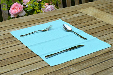 Placemats, Rib Style 33x45cm Azure Blue Pack of 2