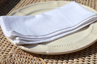 Napkins, Plain Dyed 41x41cm Brilliant White Pack of 4