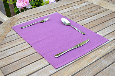 Placemats, Rib Style 33x45cm Damson Wine Pack of 2