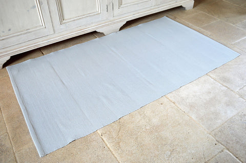 Floor Rug, 100% Cotton Flat Weave Dove Grey 2 Sizes