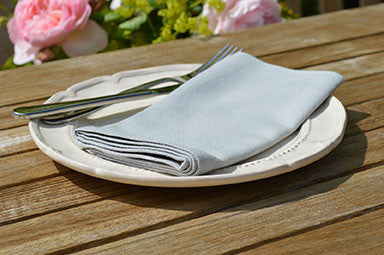 Napkins, Plain Dyed 41x41cm Dove Grey Pack of 4