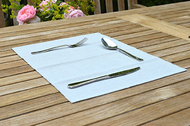 Placemats, Rib Style 33x45cm Dove Grey Pack of 2