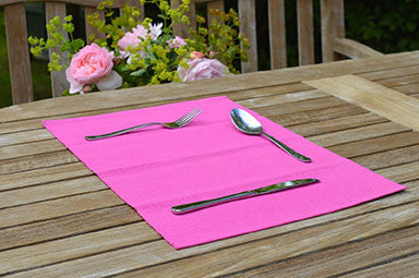 Placemats, Rib Style 33x45cm Fuchsia Pink Pack of 2