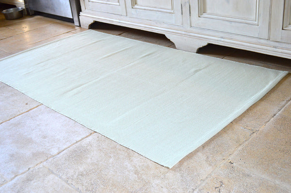Floor Rug, 100% Cotton Flat Weave Golden Sand 2 Sizes