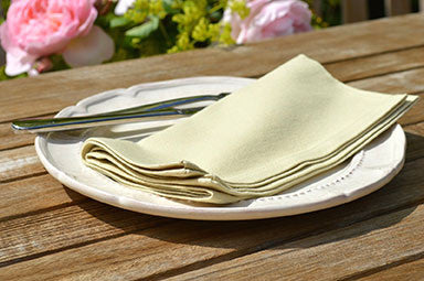 Napkins, Plain Dyed 41x41cm Golden Sand Pack of 4