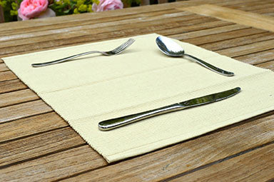 Placemats, Rib Style 33x45cm Golden Sand Pack of 2