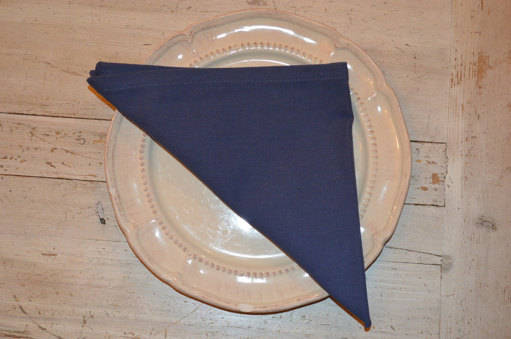 Napkins, Plain Dyed 41x41cm Indigo Navy pack of 4
