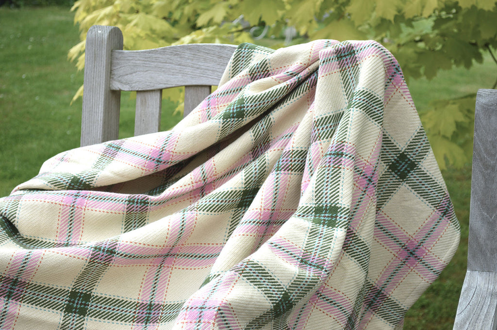 Throw, 100% Cotton Lulworth Check 135x152cm