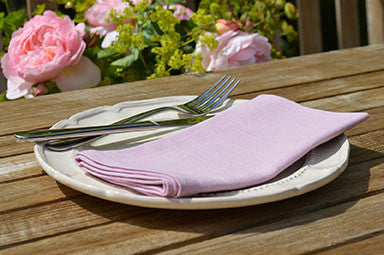 Napkins, Plain Dyed 41x41cm Orchid Pink Pack of 4