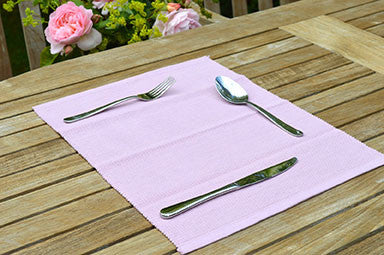 Placemats, Rib Style 33x45cm Orchid Pink Pack of 2