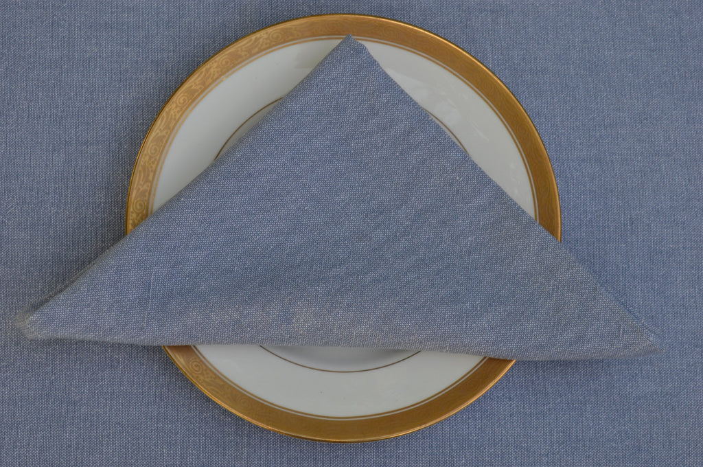 Napkins, 100% Cotton Oxford Chambray 41x41cm 16x16