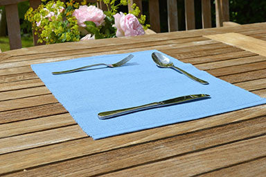 Placemats, Rib Style 33x45cm Storm Blue Pack of 2