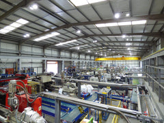 RGE Factory LED lighting project in Whittlesey, Cambridgeshire, UK