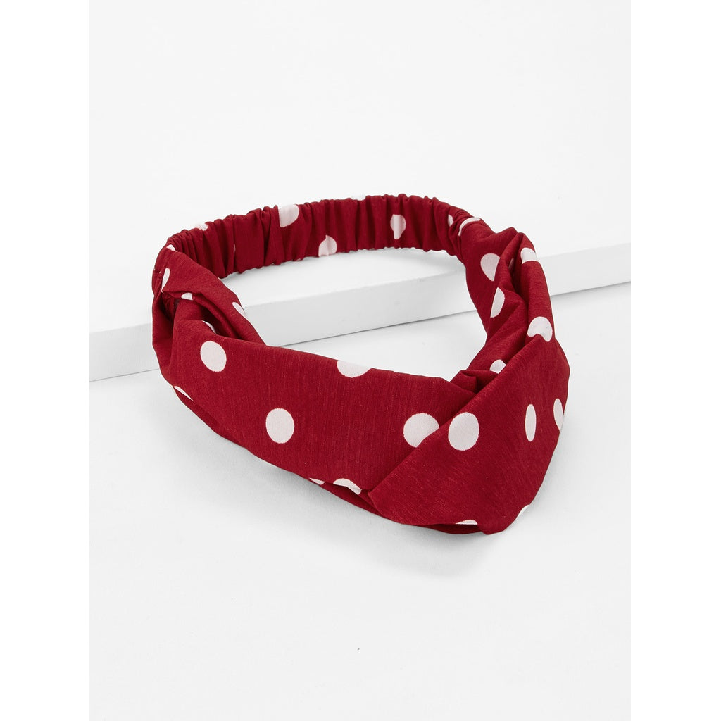 Girls Polka Dot Twist Headband