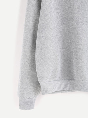 Casual grey babe sweater