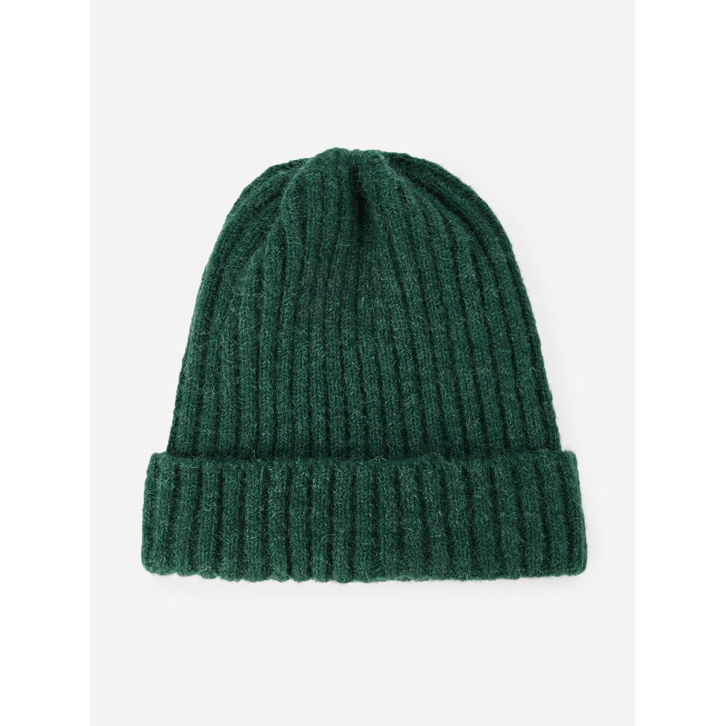 Kids Green Plain Beanie Hat
