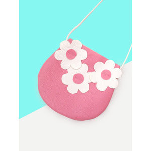 Girls Flower Decorated Crossbody Bag