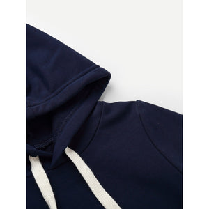 Boys Plain Hooded Sweatshirt